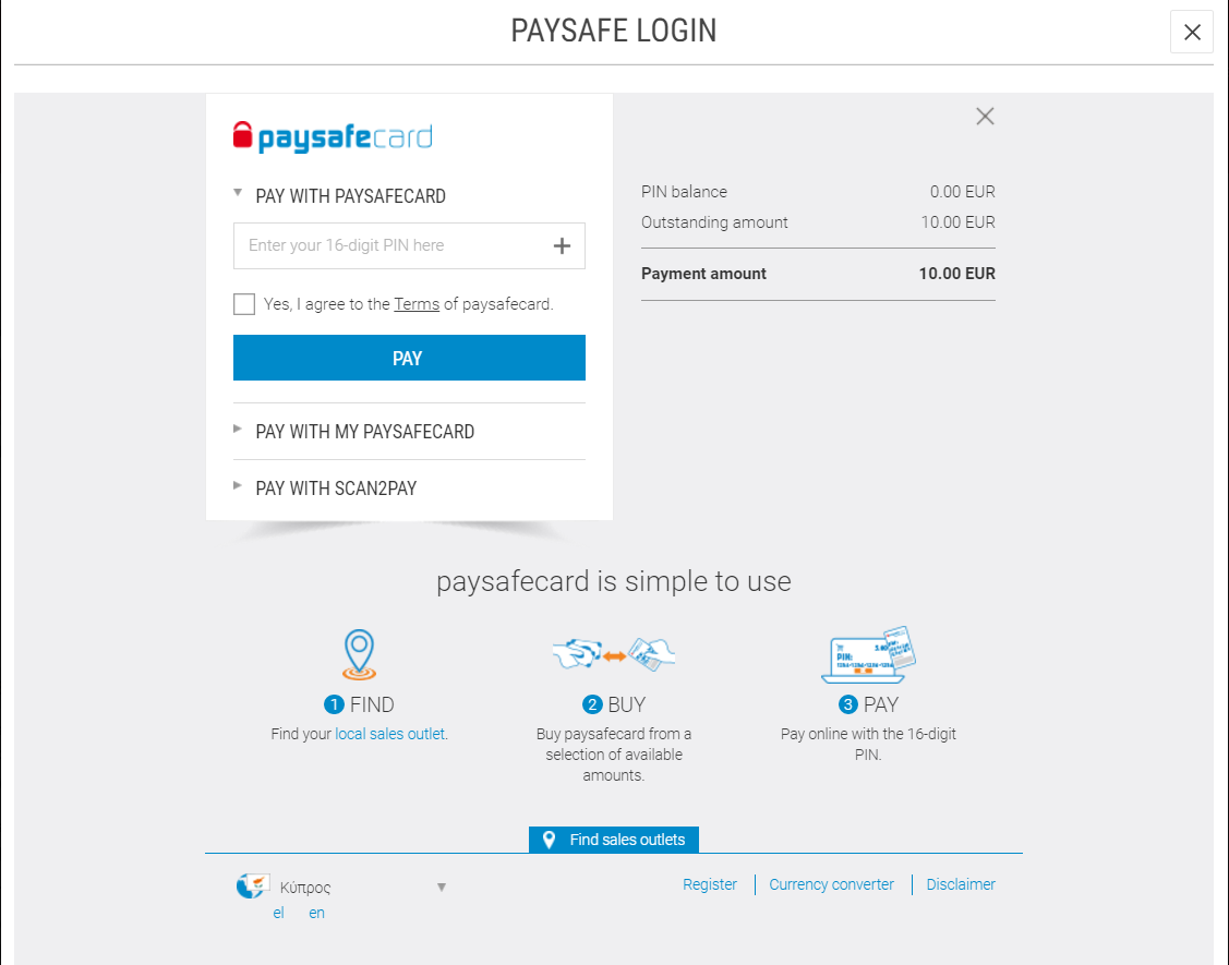 Paysafe Checker