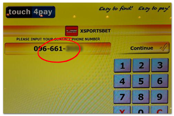 Xsportsbet.com Zambia - Deposit with Touch4Pay