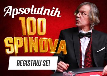 kazino 100 spinova dobrodoslice